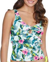 Arizona Floral Tankini Swimsuit Top Juniors