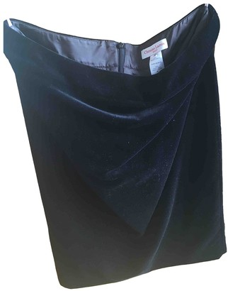 Christian Lacroix Black Velvet Skirt for Women Vintage