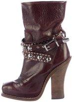Barbara Bui Embellished Square-Toe Boots