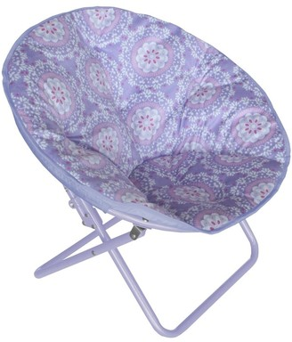 Idea Nuova Medallion Printed Faux-Fur Saucer Chair