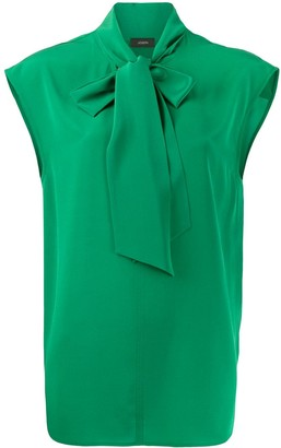 Joseph Nancy tie-neck blouse