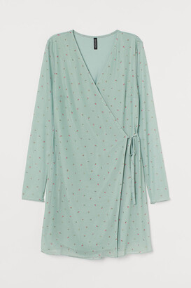 H&M Mesh Wrap Dress - Green