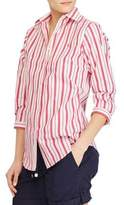 Lauren Ralph Lauren Striped Stretch Cotton Button-Down Shirt