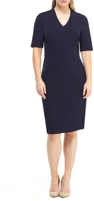 Maggy London Portia V-Neck Sheath Dress