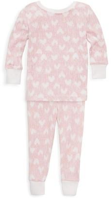 Aden Anais Baby's & Little Girl's Heart Print Pajama Set