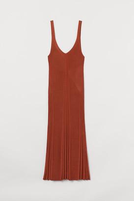 H&M Rib-knit Dress - Orange