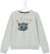 Karl Lagerfeld cat print sweatshirt - kids - Cotton/Polyester - 14 yrs