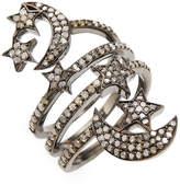 Artisan Women's Star & Moon Diamond Stack Ring