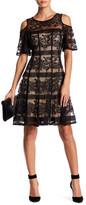 Gabby Skye Cold Shoulder Lace Dress