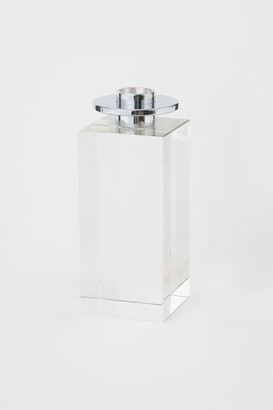 H&M Glass and metal candlestick