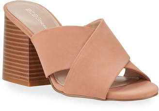 BCBGeneration Valerie Crisscross Leather Mules