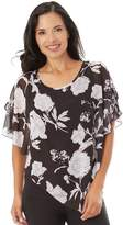 Apt. 9 Women's Textured Chiffon Popover Top