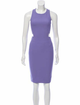 Elizabeth Kennedy Cut-Out Cocktail Dress Purple