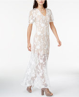 Endless Rose Embroidered Illusion Maxi Dress