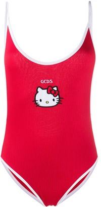 GCDS Kitty ribbed beach swimsuit