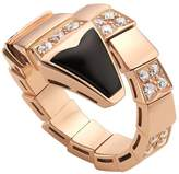 Bvlgari Rose Gold, Diamond and Black Onyx Serpenti Ring