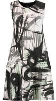 Norma Kamali Printed stretch-jersey dress