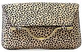 Aimee Kestenberg Jackson Cheetah-Print Haircalf Clutch