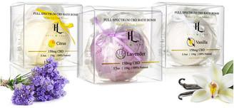 Holy Leaf Cbd Infused Bath Bombs 150Mg - Lavender, Vanilla, Citrus