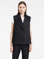 Calvin Klein Dark Denim Sleeveless Coat