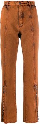 Y/Project Acid-Wash Straight Leg Jeans