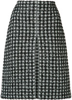 Sonia Rykiel houndstooth pattern skirt - women - Cotton/Polyamide/Viscose/Wool - XS