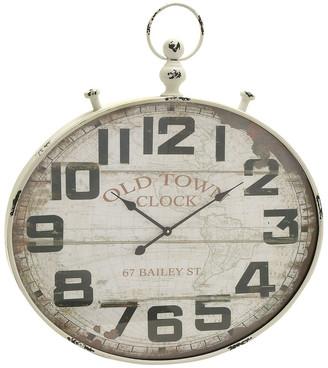 Uma Enterprises Metal Wood Wall Clock