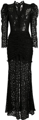 Giuseppe di Morabito Ruched Lace Gown