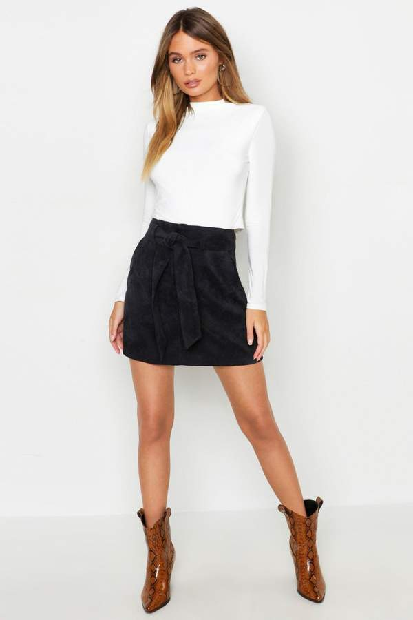 1463b4677ff8 Black Cord Skirt A Line - ShopStyle UK