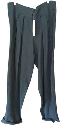 Dusan Grey Linen Trousers for Women