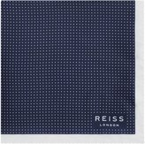 Reiss Nou - Silk Dotted Pocket Square in Blue, Mens