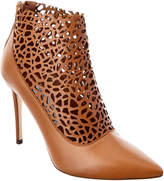 Jimmy Choo Maurice 100 Laser Perforated Shiny Leather Bootie