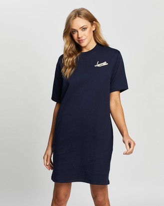 Lacoste Graphic Double Face T-Shirt Dress
