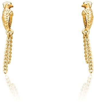 Tane Quetzal Gold Earrings