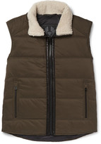 Belstaff Fyfield Shearling-Trimmed Quilted Ripstop Gilet