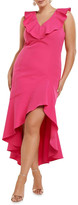Forever New Curve Natalie Ruffle V-Neck Midi Dress
