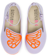 Sophia Webster Bibi Butterfly Mini Flat, Purple/Orange, Toddler/Youth