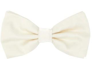Dolce & Gabbana Silk-faille Bow Tie - White