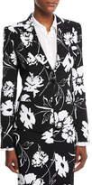 Michael Kors Floral-Print Crepe Cady Tailored Jacket