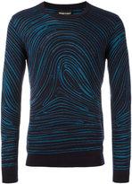 Emporio Armani twirled print sweatshirt