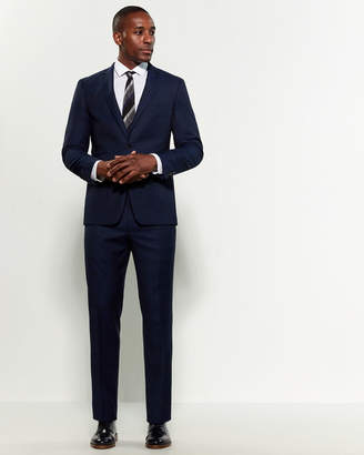 Vince Camuto Two-Piece Blue Slim Fit Nailhead Wool Suit