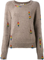 Marc Jacobs rainbow beaded jumper - women - Polyester/Cashmere/Wool/glass - M
