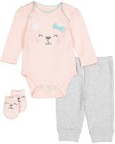 Vitamins Baby Pink Bear Bodysuit Set - Infant