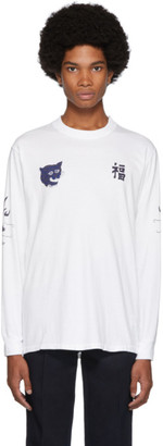Blue Blue Japan SSENSE Exclusive White Fuku-Tora-Ryu Long Sleeve T-Shirt