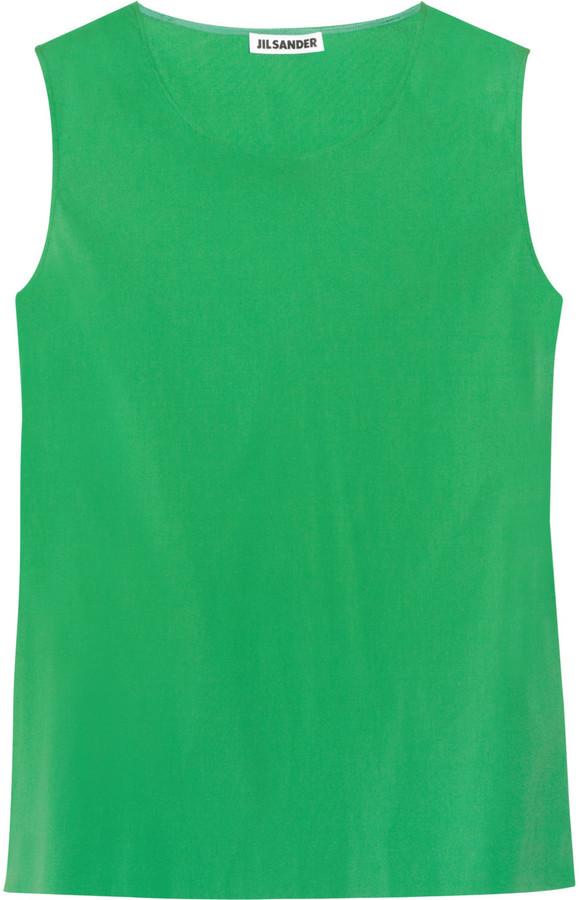 Jil Sander Stretch-cotton top