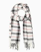 Charming charlie Plaid Fringe Blanket Wrap