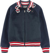 Ermanno Scervino Bi-material Teddy jacket