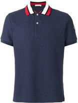 Moncler striped collar polo shirt