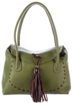 Henry Beguelin Tassel-Accented Leather Shoulder Bag