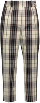 Michael Kors Checked cotton-canvas tapered pants